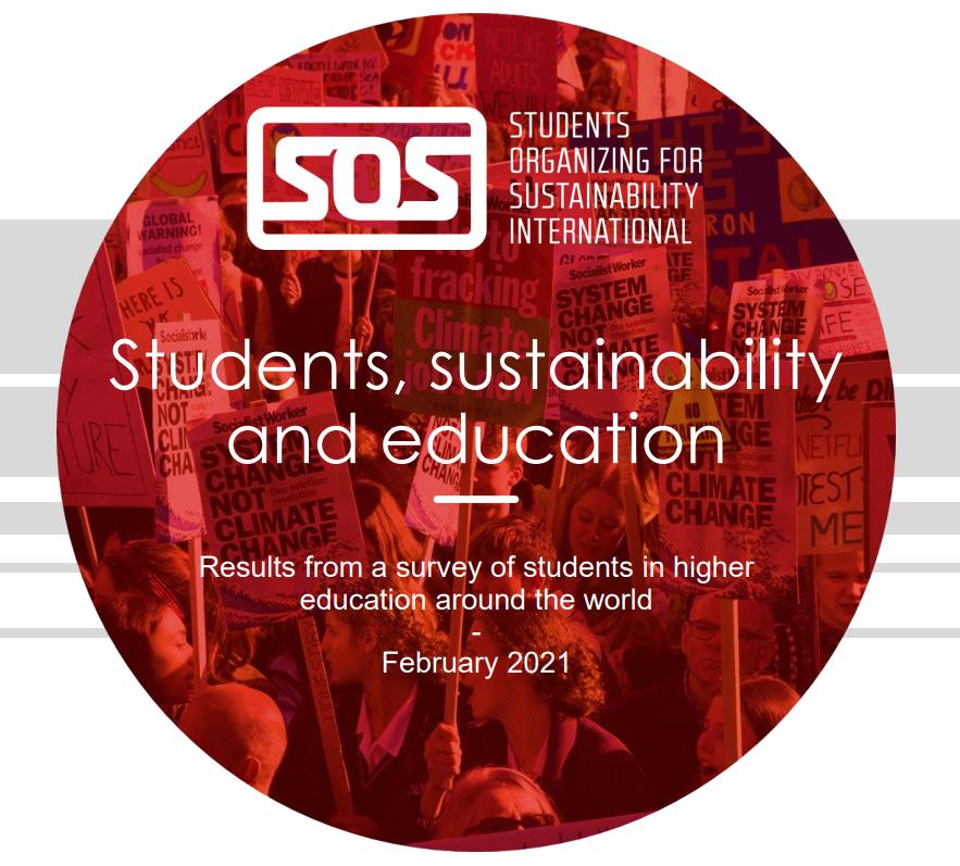Worldwide student survey sustainability SOS International